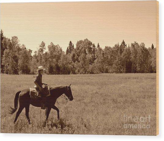 Lone Ranger Wood Print