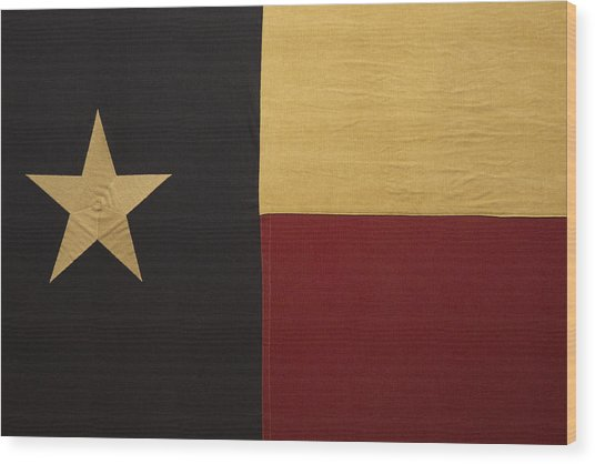 Lone Star Proud Wood Print