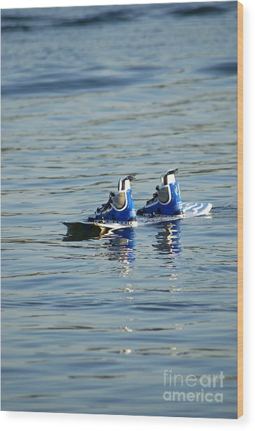 Lone Wakeboard Wood Print