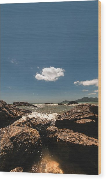 Lonely Cloud Wood Print
