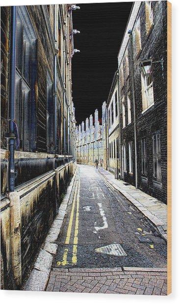 Lonely Street Wood Print