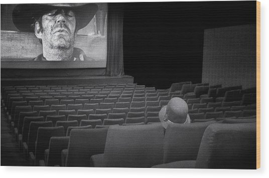 Lonely...at The Movies... Wood Print