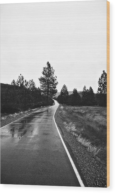 Lonesome Highway No. 2 Wood Print