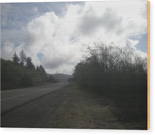 Lonesome Road Wood Print