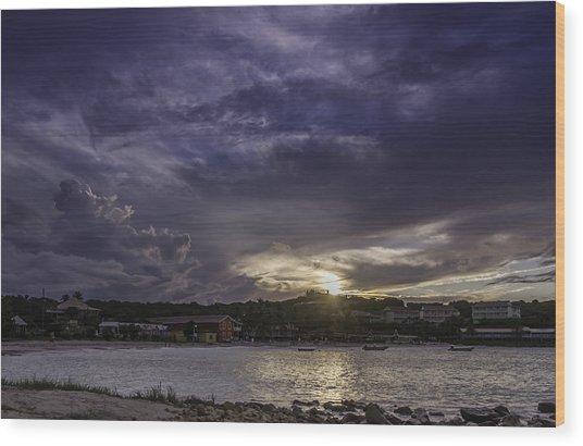 Long Bay Sunset #1 Wood Print