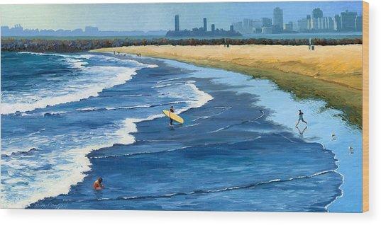 Long Beach California Wood Print