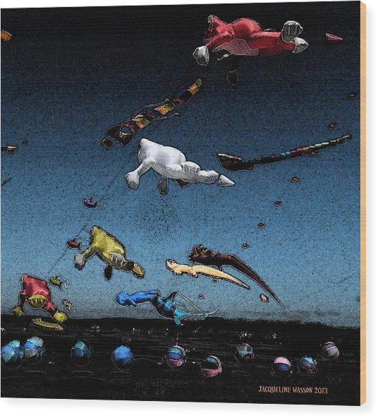 Long Beach Kites 2012 Wood Print