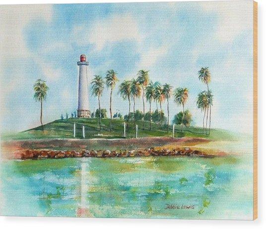 Long Beach Lighthouse  Version 2 Wood Print