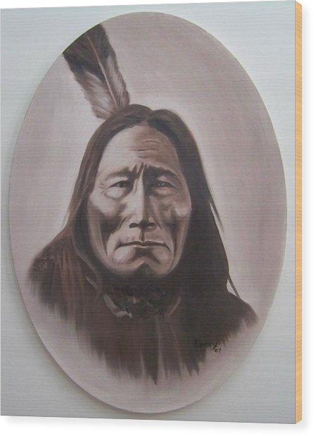 Long Bear Wood Print