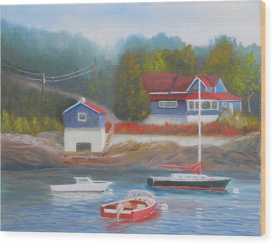 Long Cove Wood Print