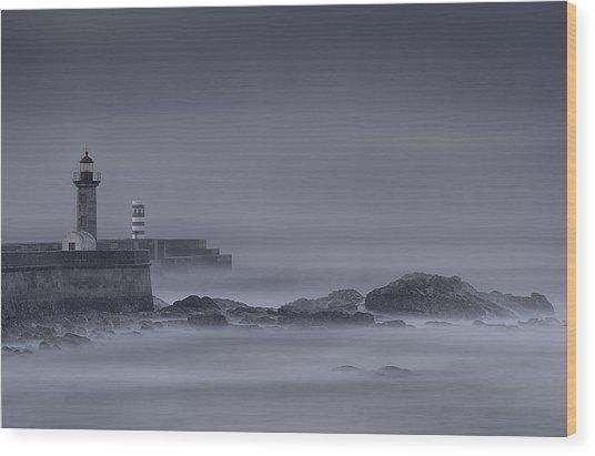 Long Exposure Foz Porto Wood Print