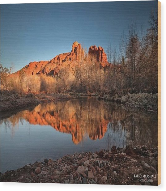 Long Exposure Photo Of Sedona Wood Print by Larry Marshall