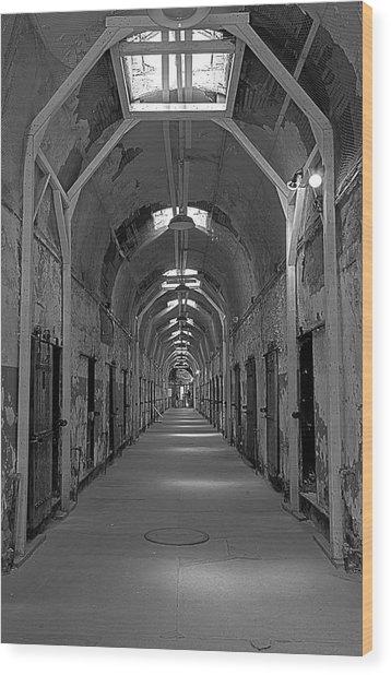 Long Hallway Wood Print