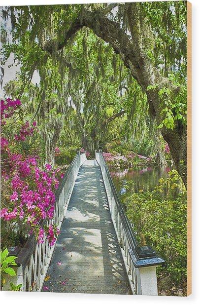 Long White Bridge Wood Print