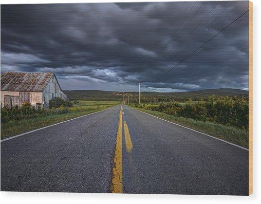 Longest Mile Wood Print