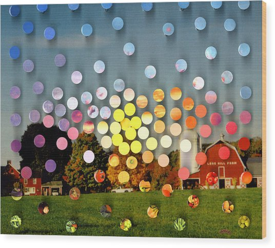 Longhillfarm Sunsetsegue3 Wood Print by Irmari Nacht