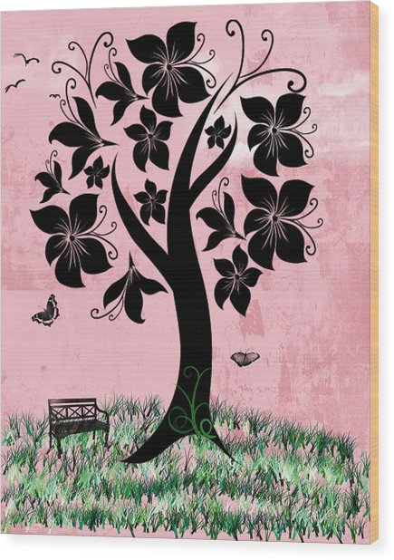 Longing For Spring Wood Print