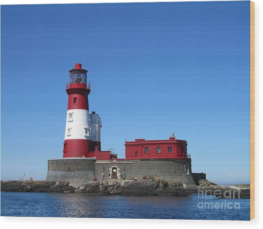Longstone Lighthouse Wood Print