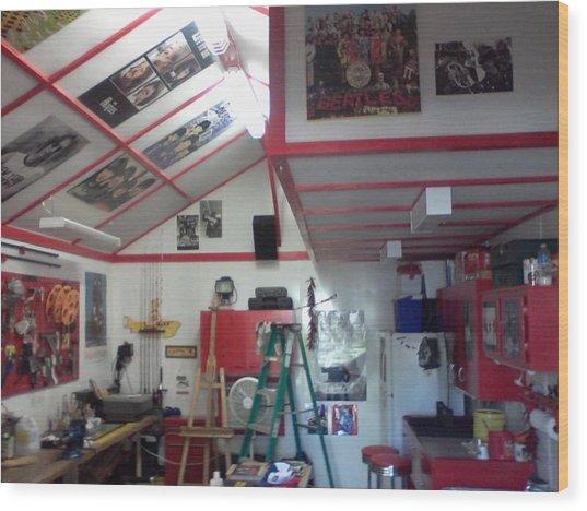 Look Inside Studio Work Shop Wood Print