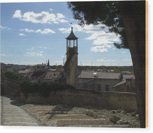 Look Out Tower On The Approach To Beaucaire Castle Wood Print