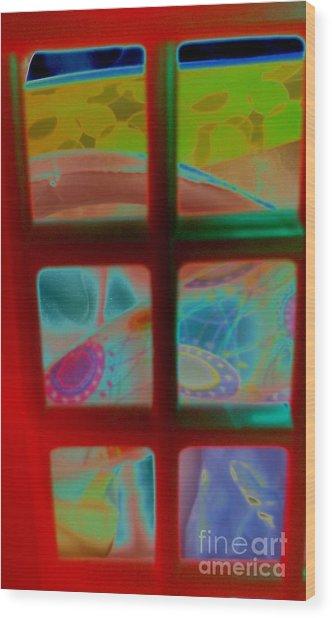Look Through Any Window Wood Print