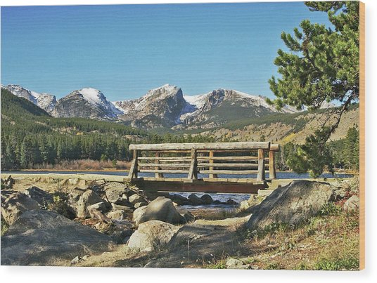 Looking At Longs Peak Colorado Wood Print