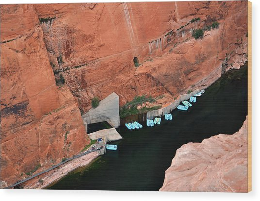 Looking Down At Glen Canyon  Wood Print