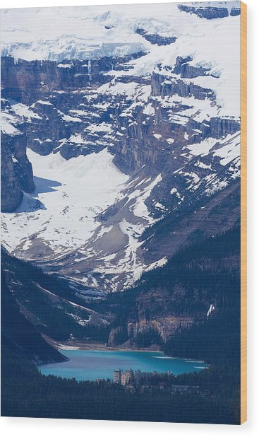 Looking Down At Lake Louise #2 Wood Print