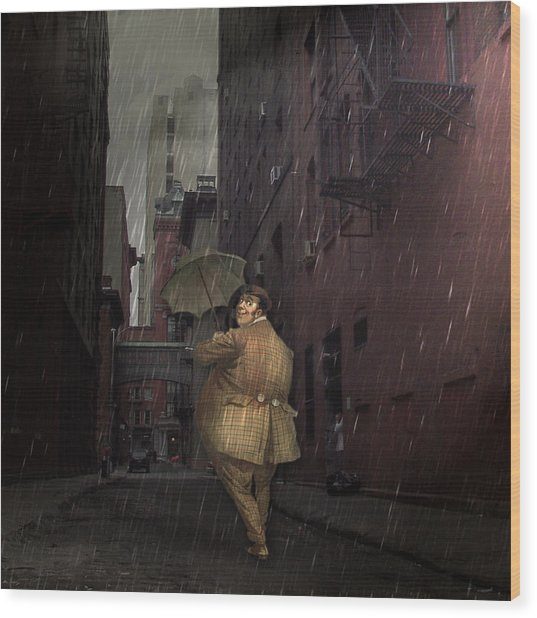 Looking For Broadway Wood Print