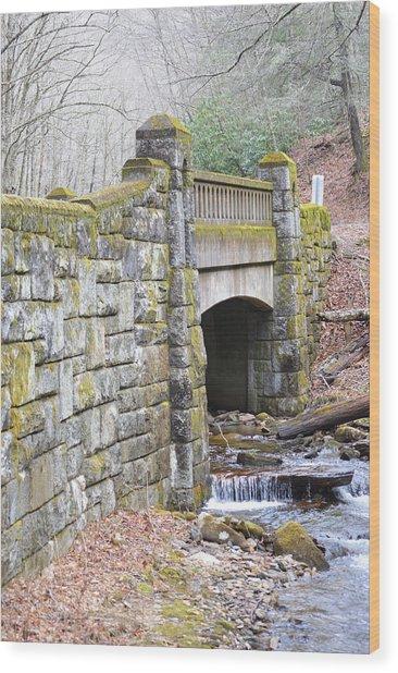Looking Glass Creek Bridge - Vertical Wood Print