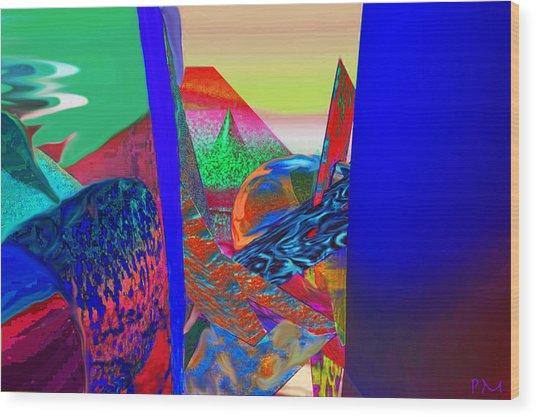 Looking Through The Stak Wood Print