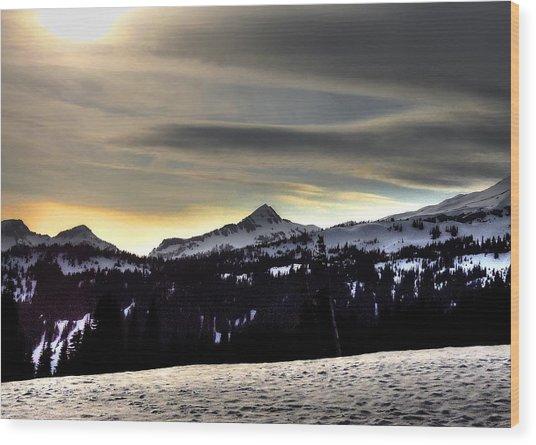 Looking West At Pyramid Peak Wood Print