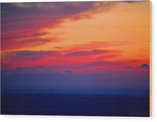 Lookout Mountain Sunset Wood Print
