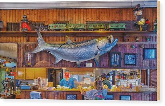 Loose Caboose Restaurant - Boca Grande Wood Print
