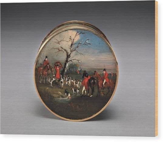 Lord Edward Thynne's Snuff Box, Decorated With Foxhunting Wood Print