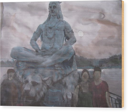 Lord Shiva Wood Print