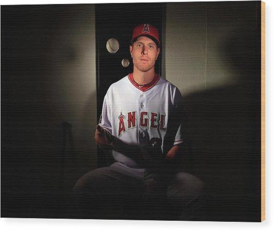 Los Angeles Angels Of Anaheim Photo Day Wood Print