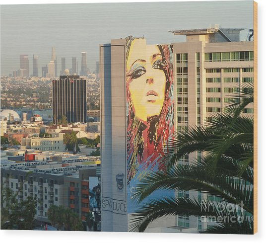 Los Angeles Golden Hour Wood Print
