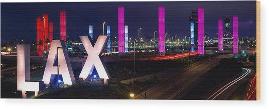 Los Angeles Intl Airport Los Angeles Ca Wood Print