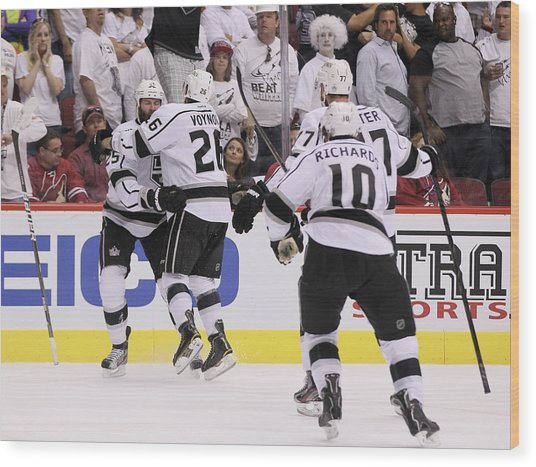 Los Angeles Kings V Phoenix Coyotes - Wood Print by Jeff Gross