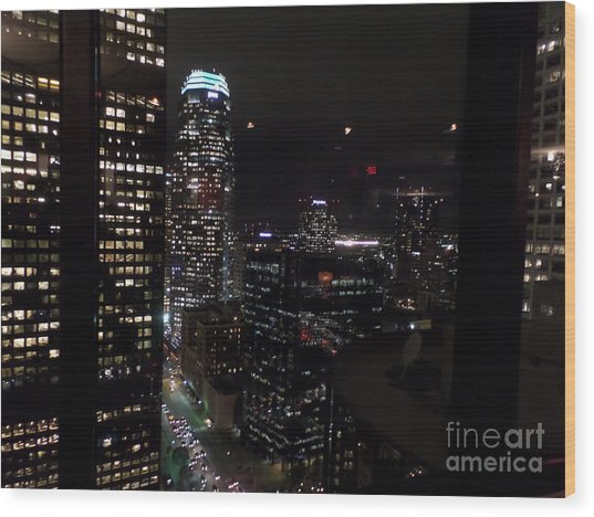 Los Angeles Nightscape Wood Print