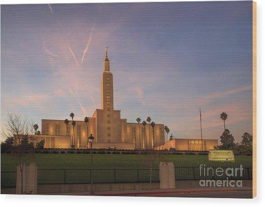 Los Angeles Temple Wood Print