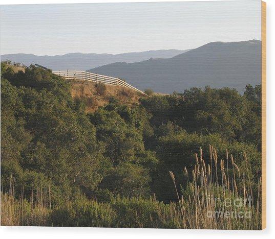 Los Laureles Ridgeline Wood Print