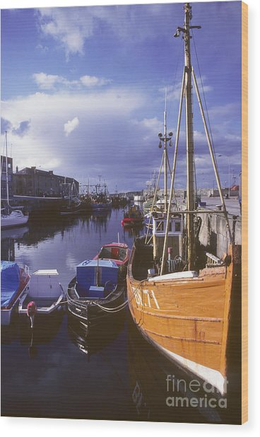 Lossiemouth Harbour - Scotland Wood Print by Phil Banks