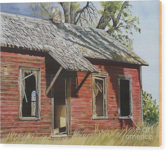 Lost America Wood Print