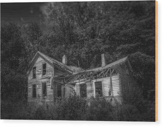 Lost And Alone Wood Print