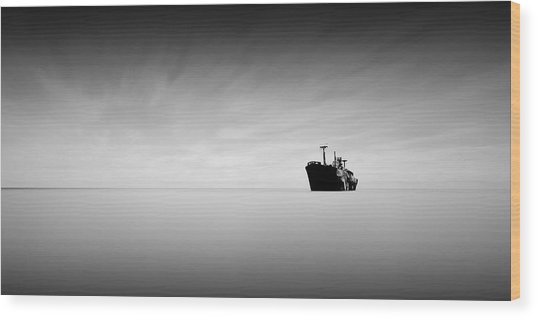 Lost At Sea Wood Print by Mihai Florea