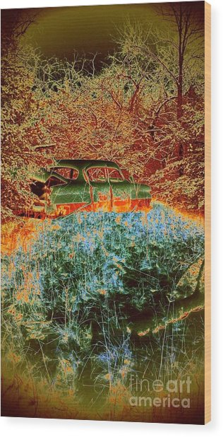 Lost Car Wood Print