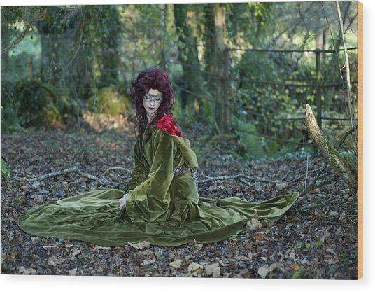 Lost Daughter Of Goddess Demether Wood Print by Sylwia Klimczak