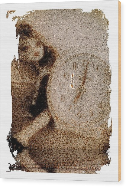 Lost Doll In Time Wood Print
